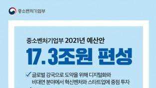 내년 중기부 예산 17.3조원 편성…비대면 육성·정책금융 강화